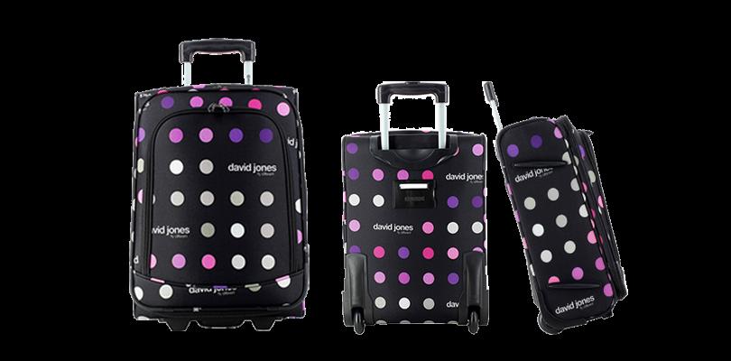 grossiste 221e8 55b19 David Jones Souple : la valise idéale pour voyager Low Cost ...